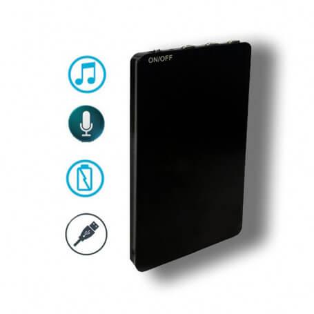 Enregistreur vocal numérique espion et lecteur audio MP3 - Micro espion enregistreur