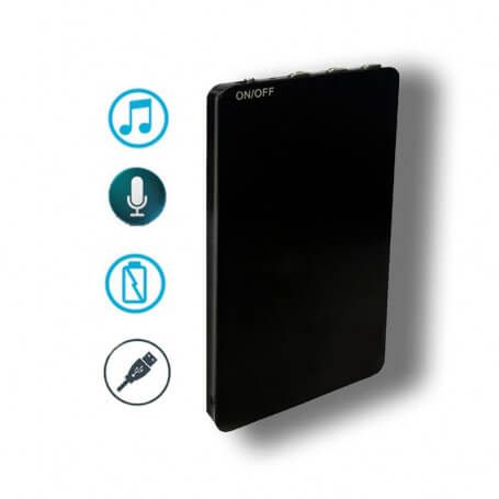 Spy digital voice recorder and MP3 audio player - With a design super slim, this spy voice recorder ensures a total discretion