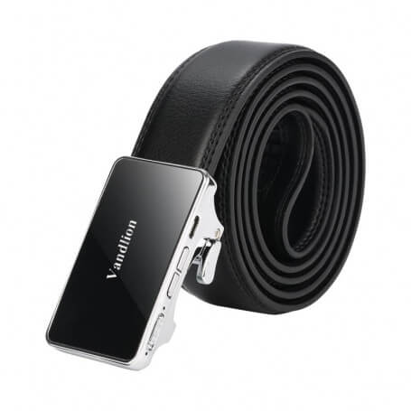 Men's leather belt equipped with micro spy recorder - During your appointment and business on a daily basis, choose this micro
