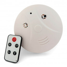 Smoke detector spy camera mini - The spy camera smoke detector is used to film and photograph discreetly. The camera lens is in
