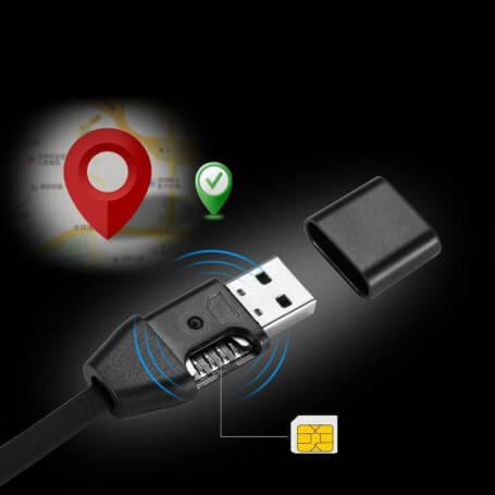 Câble usb avec micro espion gsm Iphone/android - Micro espion GSM