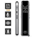 Professional digital voice recorder - This professional digital voice recorder has a capacity of 8 and 16 GB for a record time