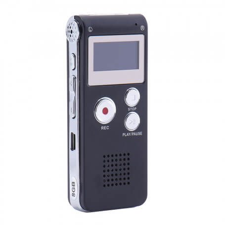 Recorder voice digital 8 GB - 2 in 1 product with both a voice recorder and music player function. It offers a recording time o